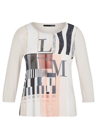 LeComte Rundhalsshirt, mit abstraktem Front-Print und Glitzersteinen kaufen