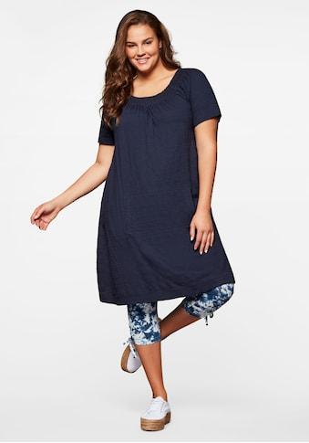 Sheego Jerseykleid, mit Struktur kaufen