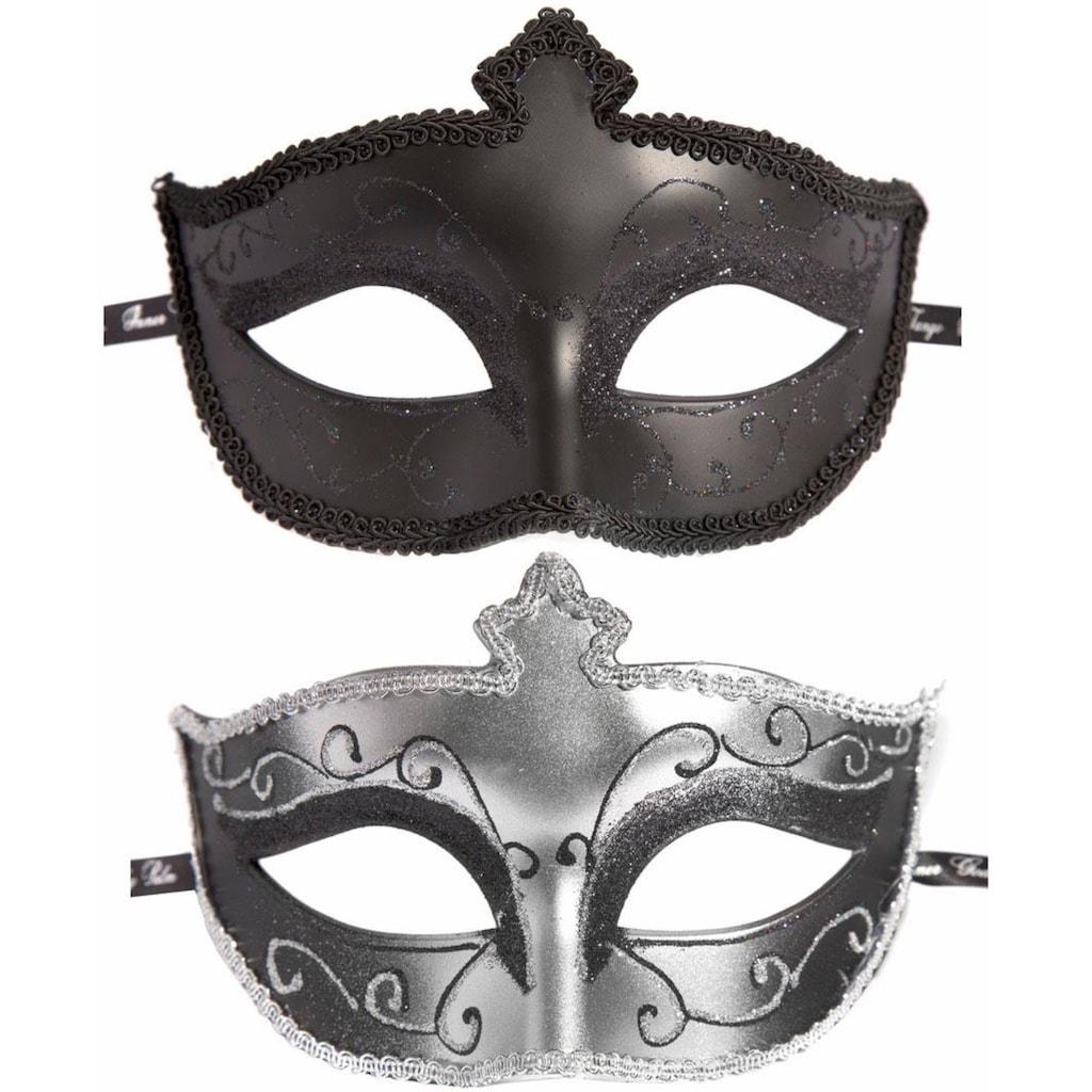 Fifty Shades of Grey Erotik-Maske »Masks On Masquerade«, (Set, 2 tlg.), Glitzernd