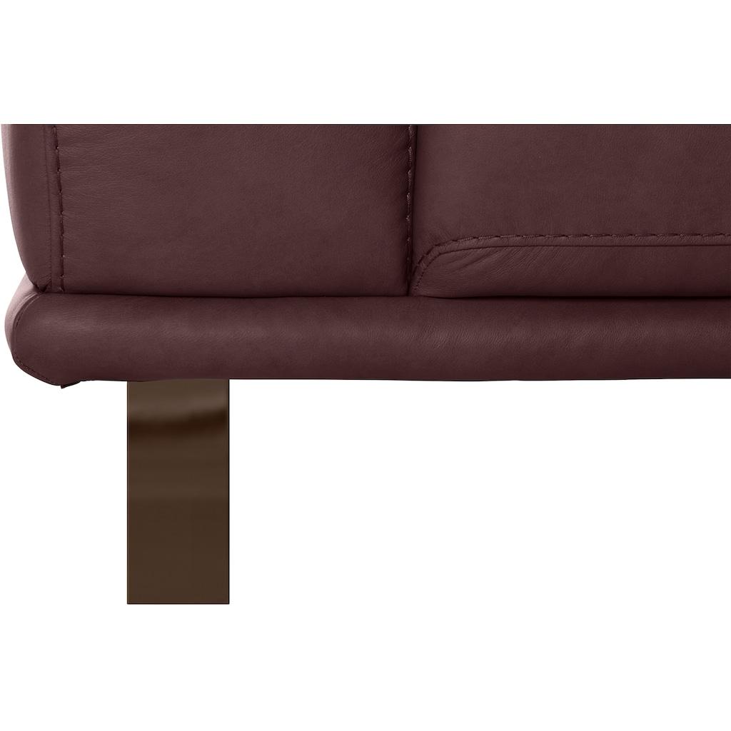 W.SCHILLIG 2,5-Sitzer »montanaa«, mit Metallkufen in Bronze pulverbeschichtet, Breite 212 cm
