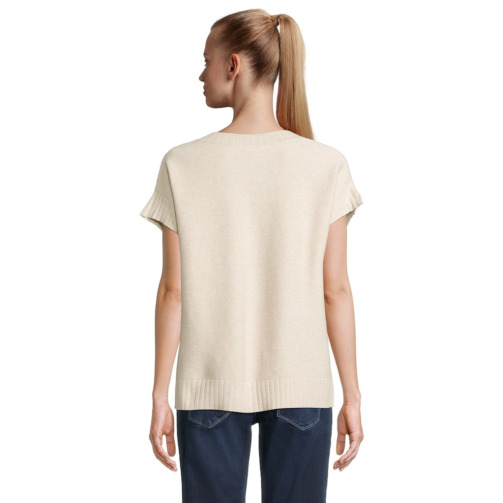 Betty&Co V-Ausschnitt-Pullover »ohne Arm«