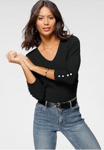 Laura Scott V-Shirt, mit großem Rückenausschnitt aus Ripp-Qualität - NEUE KOLLKTION kaufen