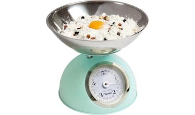 bestron Küchenwaage »Sweet Dreams«, analog, mit abnehmbarer Wiegeschale, Retro Design, Tragkraft: 5 kg, Mintgrün kaufen