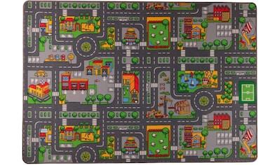 Living Line Kinderteppich »Little City«, rechteckig, 7 mm Höhe, Straßen-Spielteppich,... kaufen