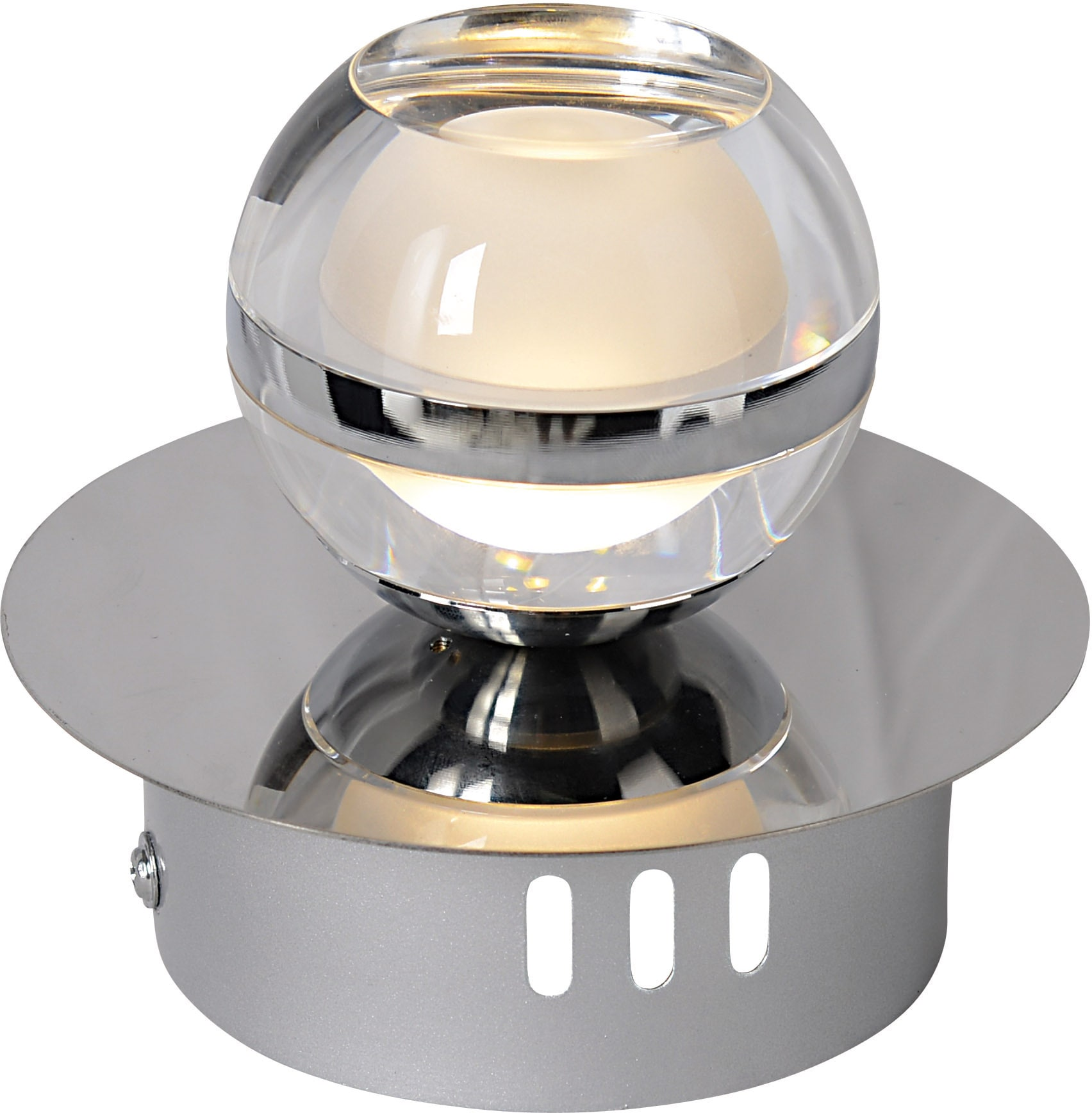 näve LED Wandstrahler Sphere, LED-Board, 1 St., Warmweiß
