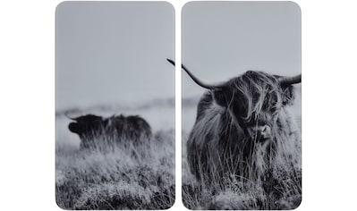 WENKO Herd-Abdeckplatte »Highland Cattle«, (Set, 2 tlg.), für alle Herdarten kaufen