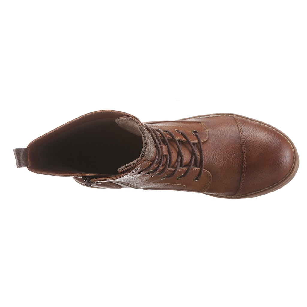 Mustang Shoes Schnürstiefelette, im Used-Look