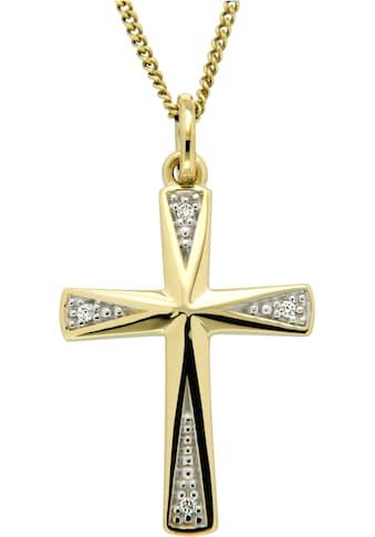 Firetti Kreuzanhänger »Symbol des Glaubens«, mit Brillanten kaufen