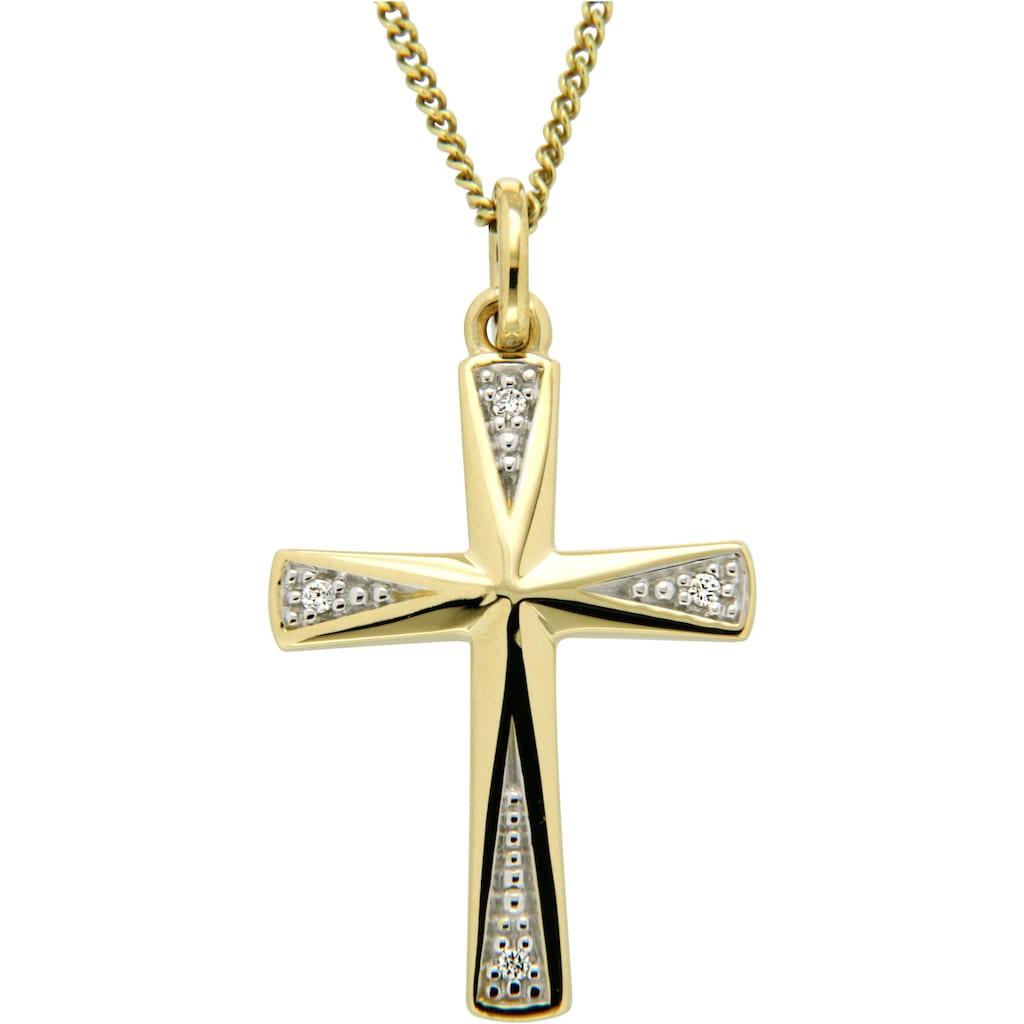 Firetti Kreuzanhänger »Symbol des Glaubens«, mit Brillanten