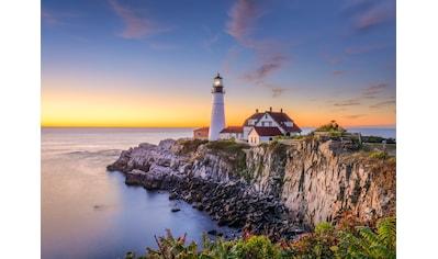 PAPERMOON Fototapete »Lighthouse Portland Main«, Vlies, in verschiedenen Größen kaufen