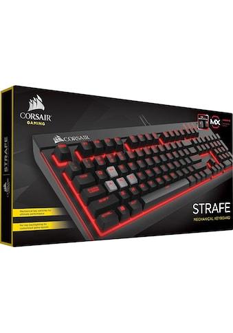 Corsair Gaming-Tastatur »STRAFE Mechanical - Cherry MX Red«, (Makro-Tasten-USB-Durchschleife-Ziffernblock-Fn-Tasten) kaufen