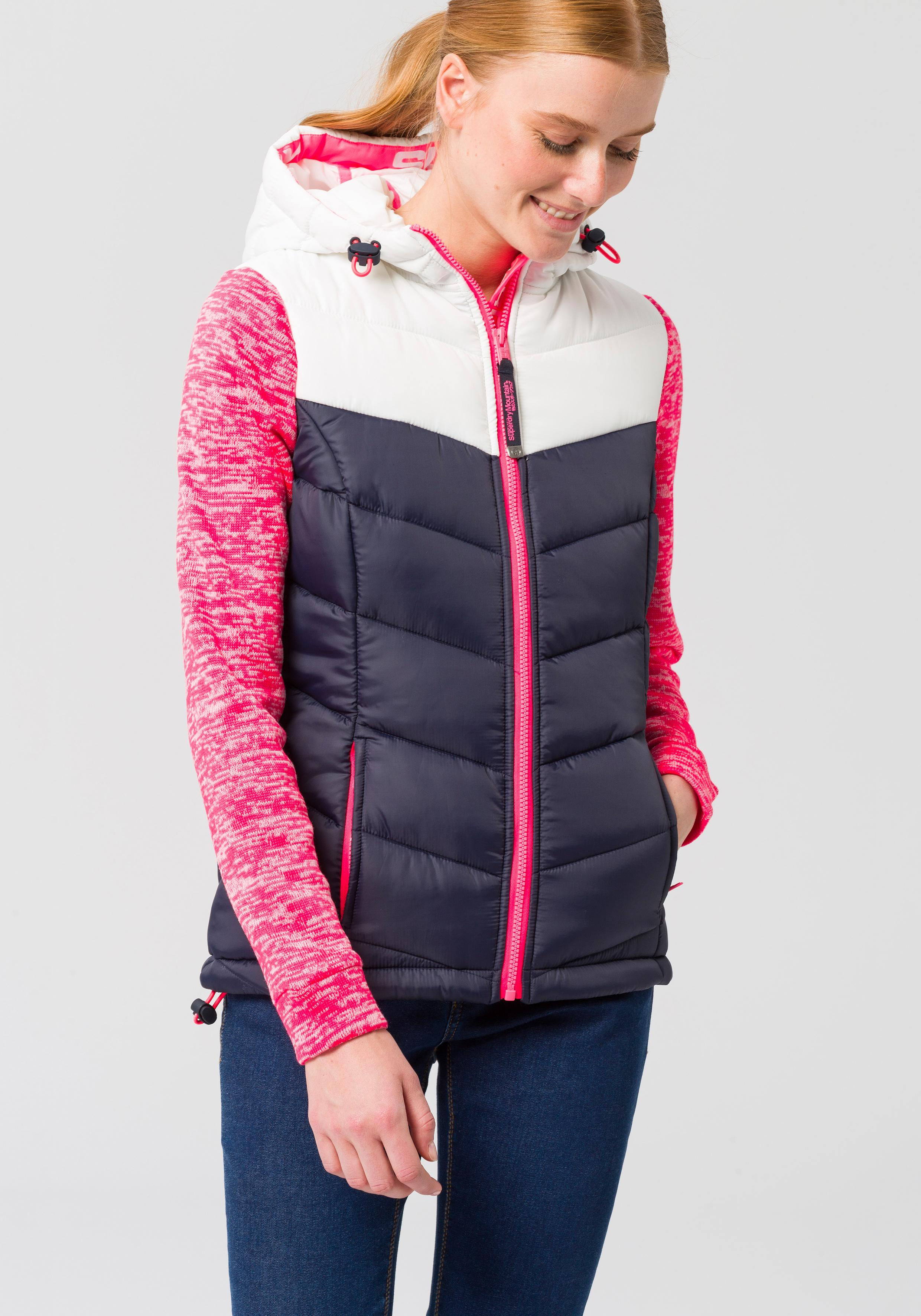 official photos 92367 4a596 Superdry Steppjacke »STORM HYBRID COLORBLOCK ZIPHOOD« für Damen | BAUR