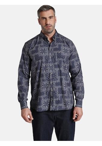 Charles Colby Langarmhemd »DUKE LARRY«, mit Allover-Druck kaufen
