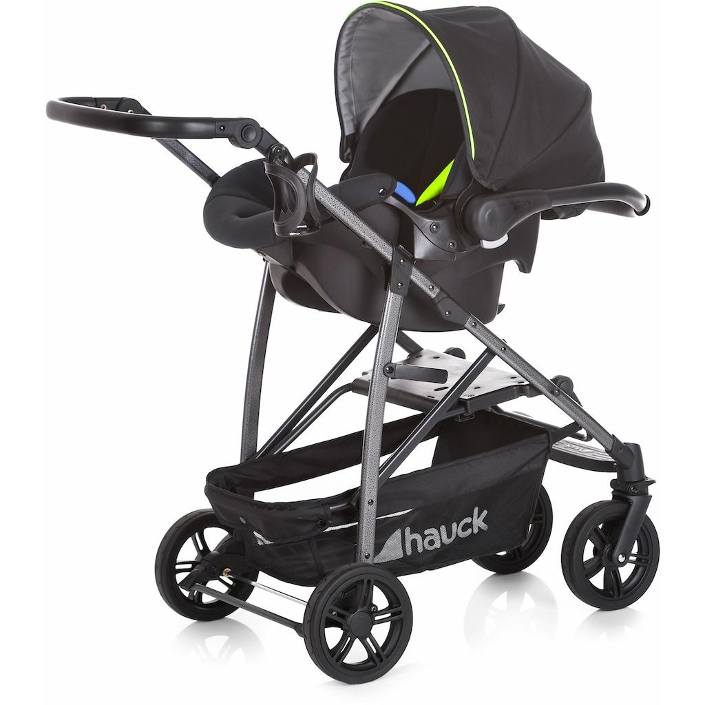 Hauck Kombi-Kinderwagen »Rapid 4S Plus Trio Set Caviar/Neon Yellow«, mit Babyschale; Kinderwagen