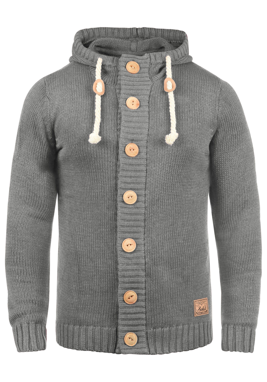 Solid Strickjacke Peer | Bekleidung > Strickjacken & Cardigans > Strickjacken | Grau | Solid