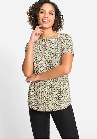 Olsen T-Shirt, mit ethnischen Ornamenten kaufen