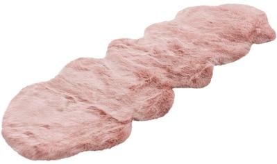 calo-deluxe Hochflor-Läufer »Emica-1000«, fellförmig, 52 mm Höhe, Kunstfell kaufen