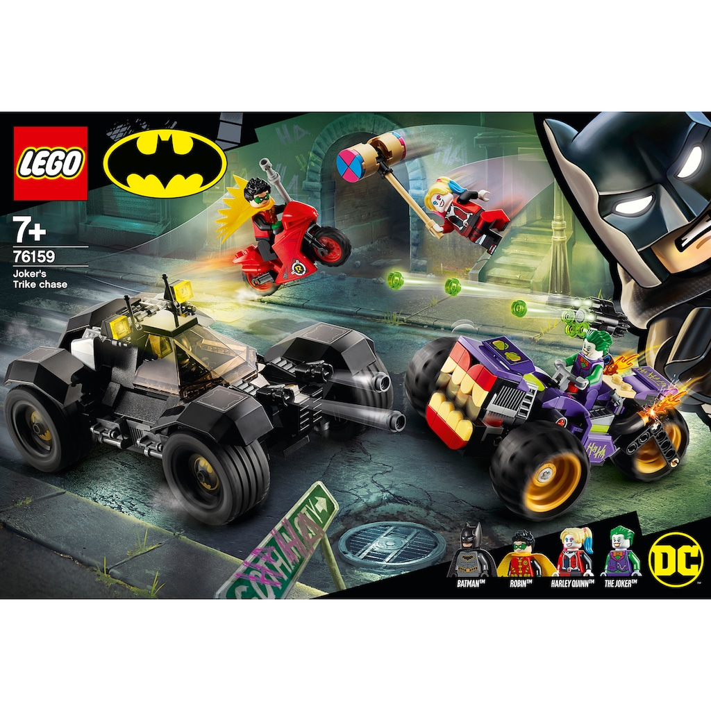 LEGO® Konstruktionsspielsteine »Jokers™ Trike-Verfolgungsjagd (76159), LEGO® DC Comics Super Heroes«, (440 St.)