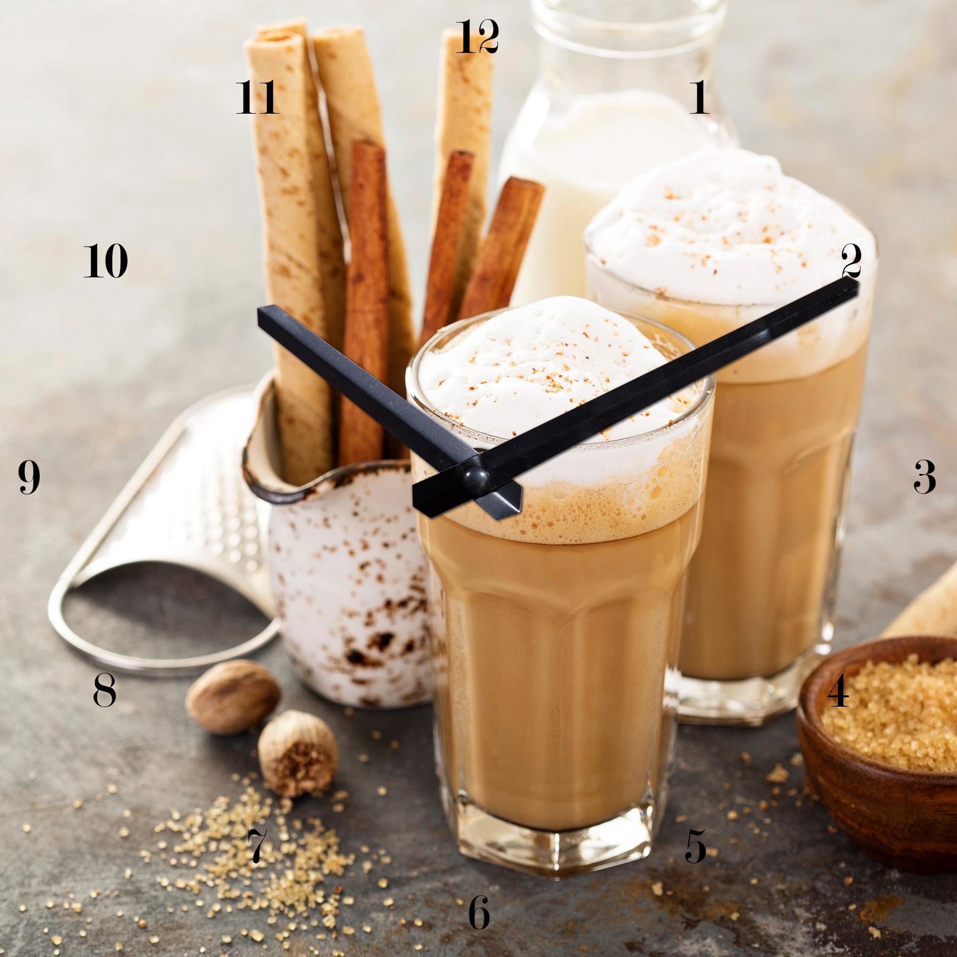 Wanduhr Cappuccino | Dekoration > Uhren > Wanduhren | Braun