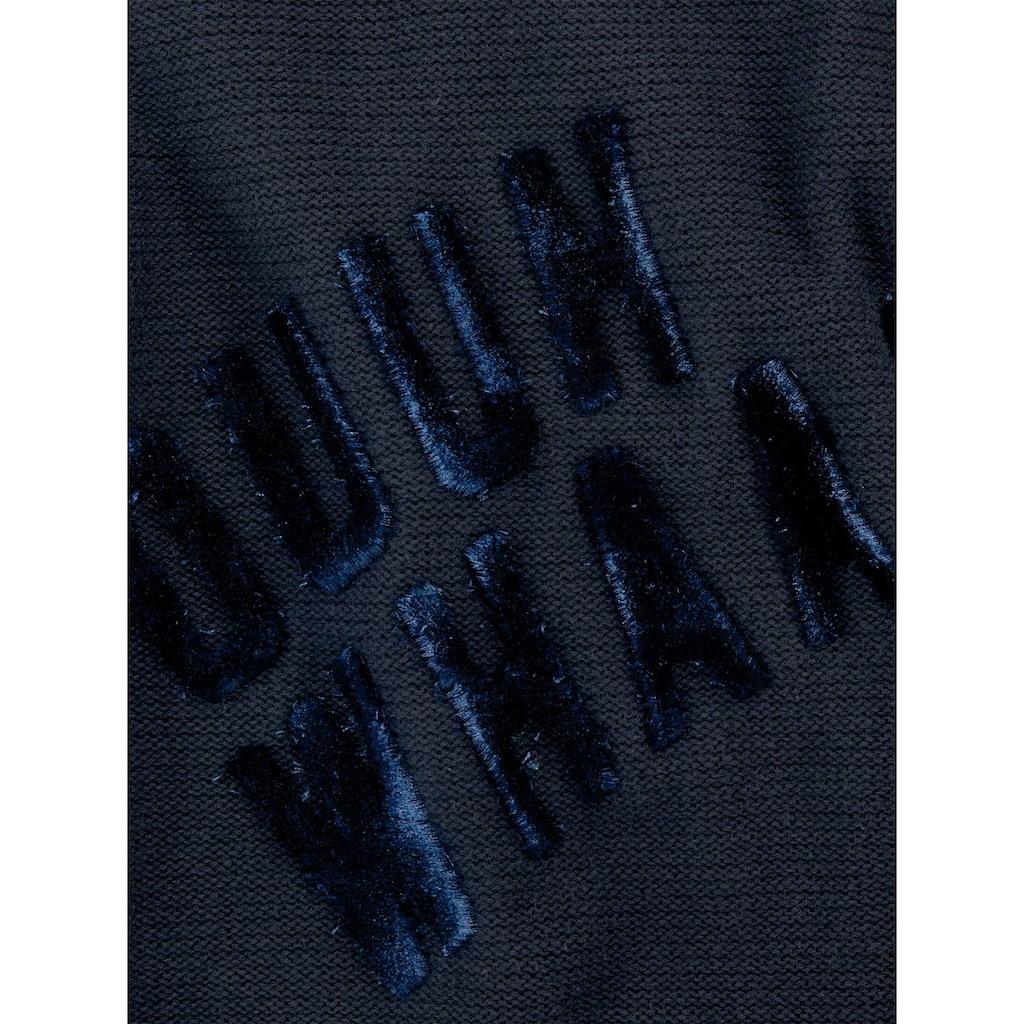 TOM TAILOR Rundhalspullover »Pullover mit Schriftzug«