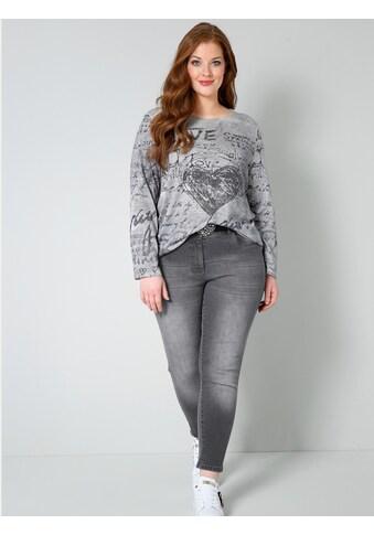 Sara Lindholm by HAPPYsize Rundhalspullover, mit modischem Druck kaufen