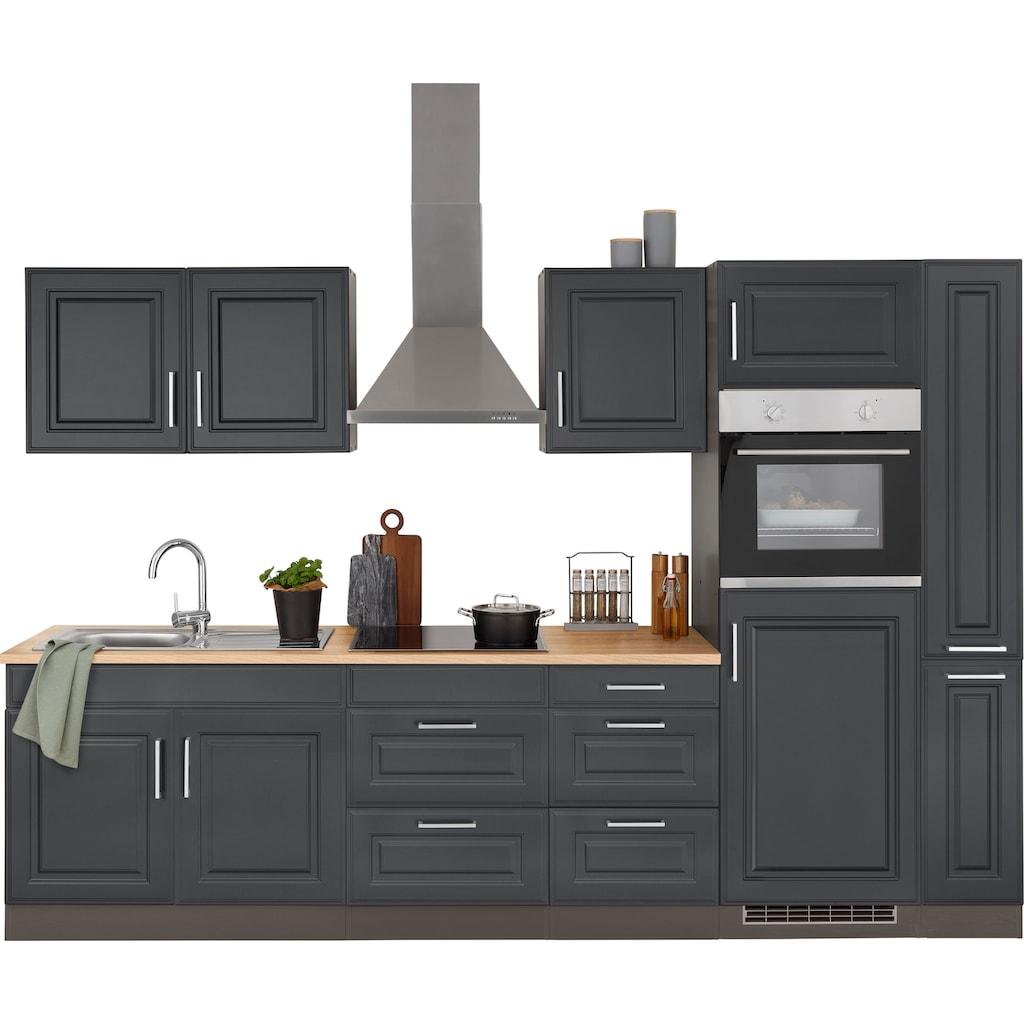 HELD MÖBEL Küchenzeile »Stockholm«, mit E-Geräten, Breite 300 cm