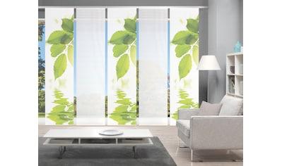 Vision Schiebegardine »LEFANO 5er SET«, Bambus-Optik, Digital bedruckt kaufen