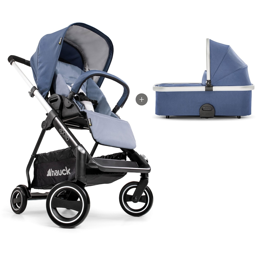 Hauck Sportbuggy »Apollo Duo Set, denim«, inkl. Babywanne und Beindecke; Kinderwagen, Buggy, Sportwagen, Kinder-Buggy, Kinderbuggy, Sport-Kinderwagen