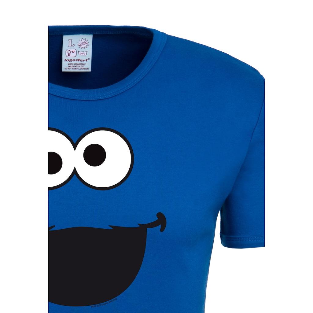 LOGOSHIRT T-Shirt »Cookie Monster – Face«, mit lizenzierten Originaldesign
