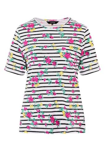 NAVIGAZIONE Shirt mit Streifen & Blumen kaufen