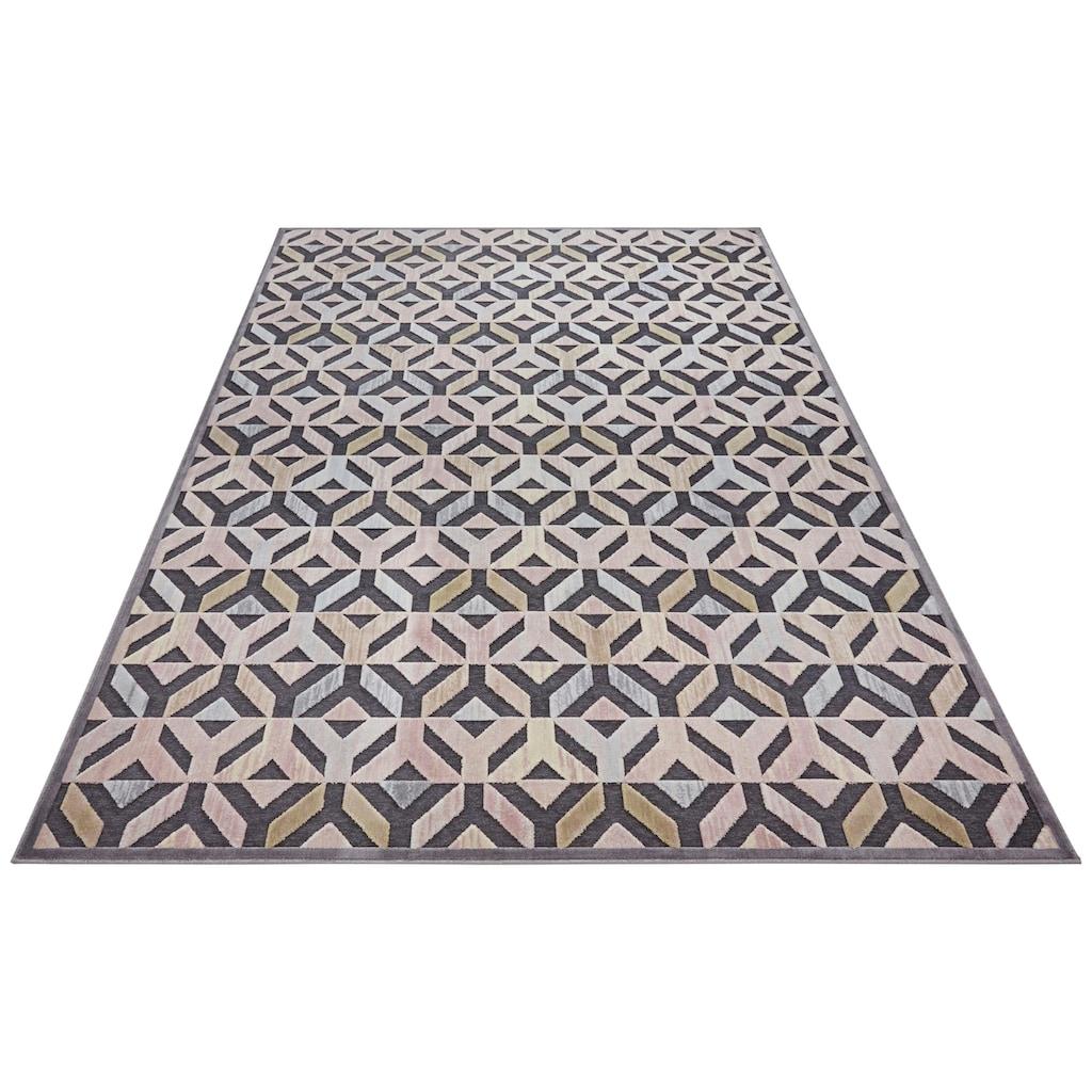 ELLE Decor Teppich »Vézère«, rechteckig, 8 mm Höhe, Hoch-Tief-Struktur, Wohnzimmer