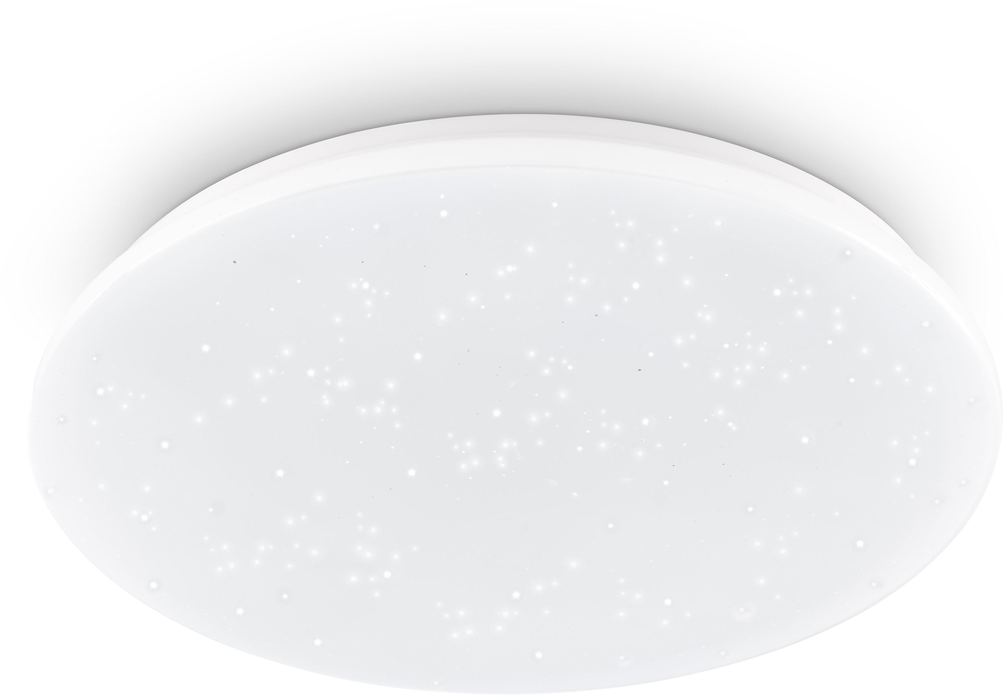 EGLO LED Deckenleuchte POGLIOLA-S, LED-Modul, 1 St., Neutralweiß, Sternenhimmel, Kristalleffekt, Modern, Deckenlampe Ø 50cm