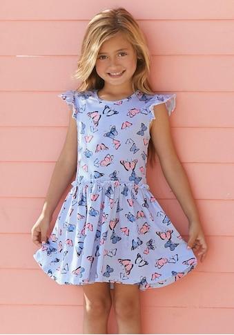 KIDSWORLD Jerseykleid, mit niedlichem Schmetterlingsmuster kaufen