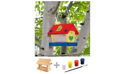 Windhager Vogelhaus »WOODPECKER Kit«, BxTxH: 12,5x16,5x22,6 cm, inkl. 4 Farben und Pinsel kaufen