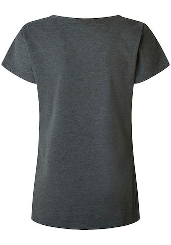 Pepe Jeans T-Shirt »MARJORIE«, in unifarbenem Design in toller Basic Passform mit... kaufen