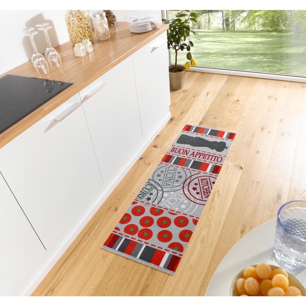 Zala Living Küchenläufer »Buon Appetito«, rechteckig, 5 mm Höhe, waschbar, rutschhemmend