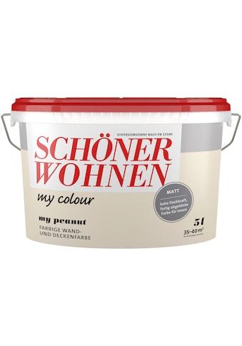 SCHÖNER WOHNEN-Kollektion Wand- und Deckenfarbe »my colour - my peanut«, matt, 5 l kaufen