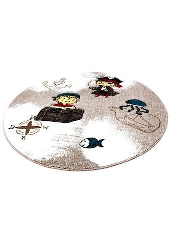 Kinderteppich, »Momo Pirat«, Festival, rund, Höhe 13 mm, maschinell gewebt kaufen