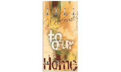 Artland Garderobe »Willkommen in unserem Zuhause«, platzsparende Wandgarderobe aus... kaufen