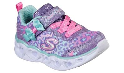 Skechers Kids Sneaker »HEART LIGHTS«, mit süßem Schleifchen und Leo-Print kaufen