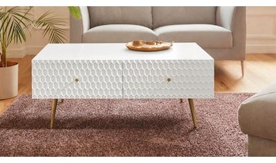 Guido Maria Kretschmer Home&Living Couchtisch »Easily«, Modernes Design, 2 Schubladen kaufen