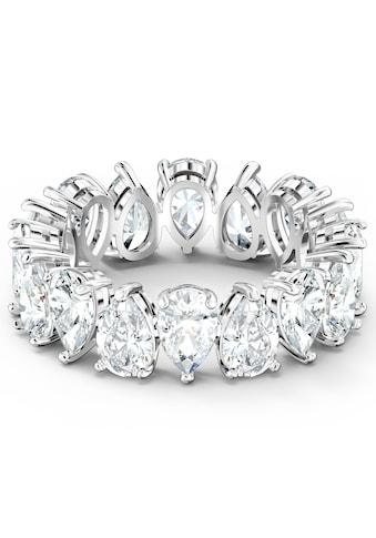 Swarovski Fingerring »Vittore Pear, weiss, rhodiniert, 5572824, 5572825, 5572826, 5572827, 5563966« kaufen