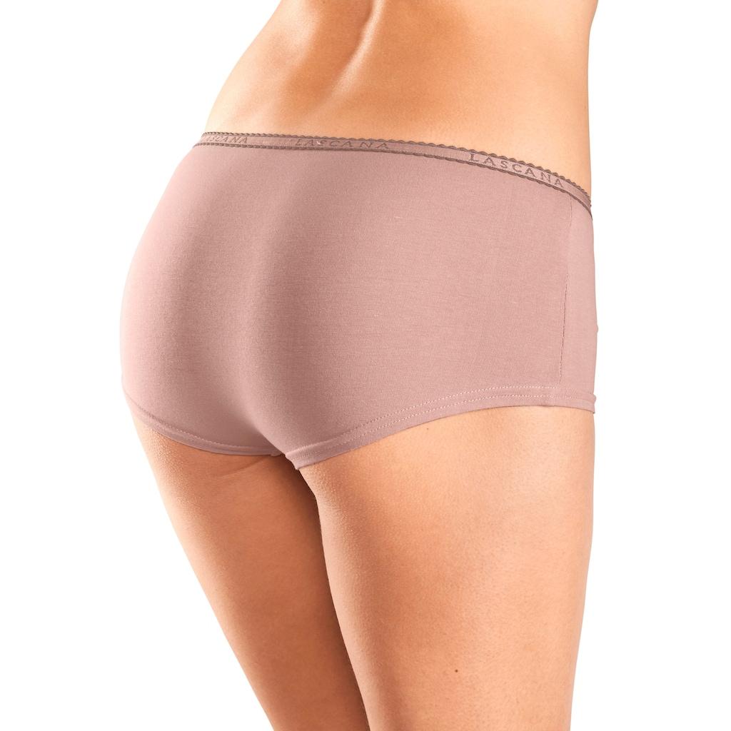 LASCANA Panty, mit schmalem Logobündchen