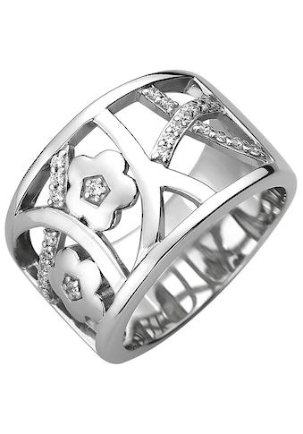 JOBO Fingerring, breit 925 Silber mit 25 Zirkonia kaufen