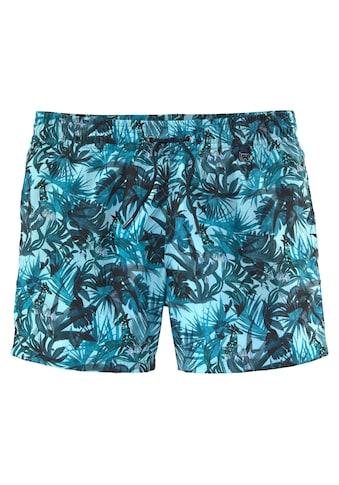 Hom Badeshorts, mit tropischem Print kaufen