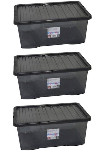 WHAM – What more UK Aufbewahrungsbox »Crystal-Boxen«, (Set, 3 St.), je 45 Liter kaufen