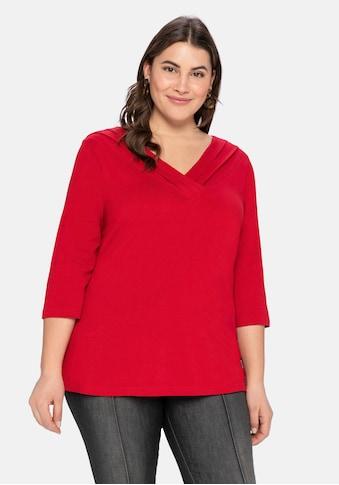 sheego by Joe Browns 3/4-Arm-Shirt, mit dekorativer Blende kaufen