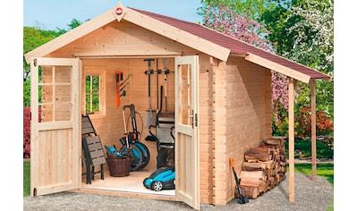 WEKA Set: Gartenhaus »Jens Gr.2«, BxT: 366x280 cm, inkl. Schleppdach, Fußboden und Fenster kaufen