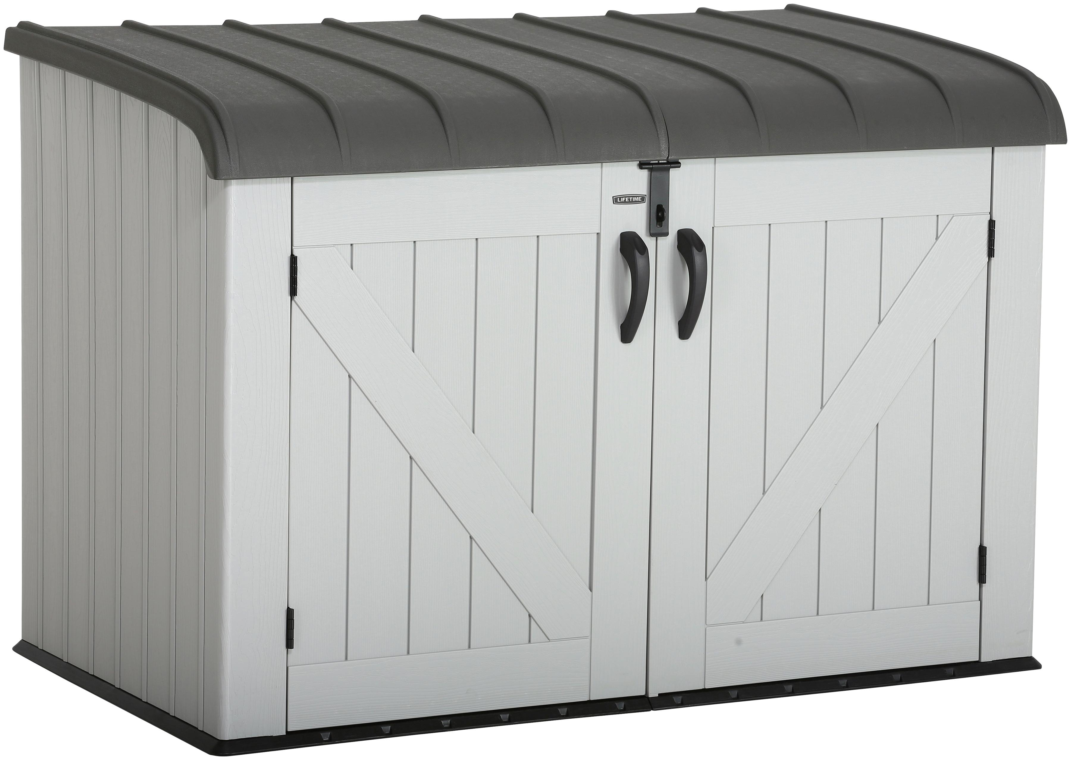 50NRTH Fahrradbox, Mülltonnenbox, BxTxH: 191x108x132 cm grau Fahrradunterstände Garten Balkon Fahrradbox