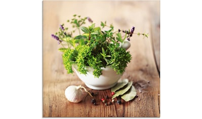 Artland Glasbild »Verschiedene Kräuter - Küche«, Arrangements, (1 St.) kaufen